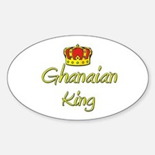 Ghanaian King Oval Decal