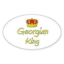 Georgian King Oval Decal