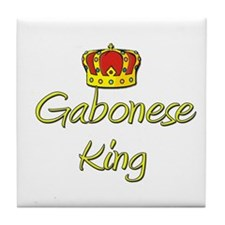 Gabonese King Tile Coaster