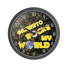 Gilberto Rocks My World (Gold) Wall Clock