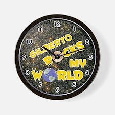 Gilberto Rocks My World (Gold) Wall Clock