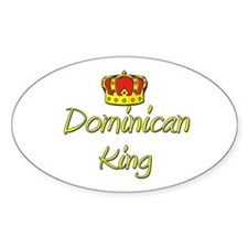 Dominican King Oval Decal