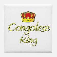 Congolese King Tile Coaster