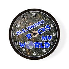 Alejandro Rocks My World (Blue) Wall Clock