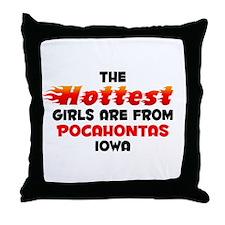 Hot Girls: Pocahontas, IA Throw Pillow