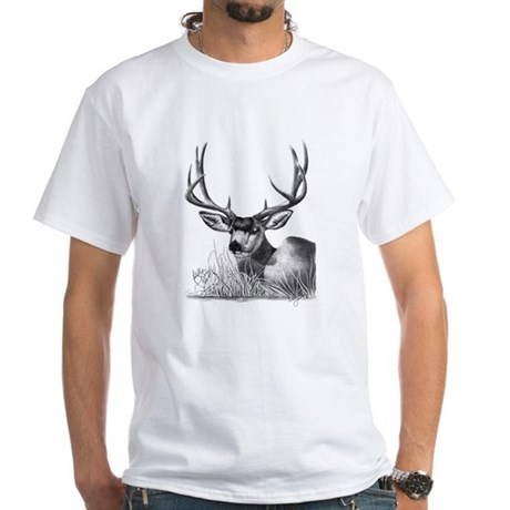 Mule Deer White T-Shirt