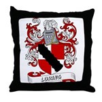 Loring Coat of Arms Throw Pillow