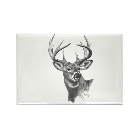 White-Tailed Deer Rectangle Magnet (10 pack)