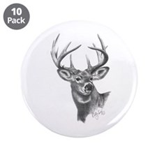 "White-Tailed Deer 3.5"" Button (10 pack)"