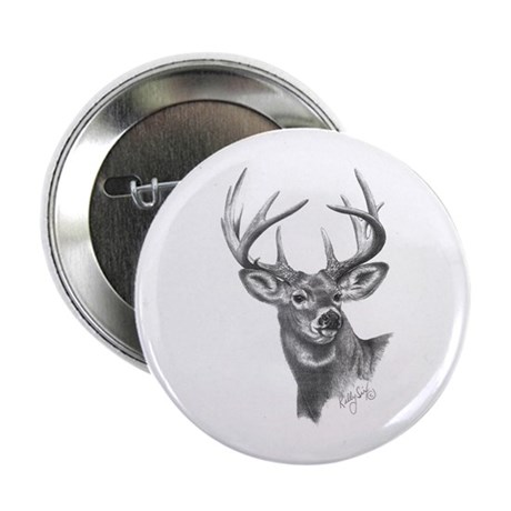 "White-Tailed Deer 2.25"" Button (100 pack)"