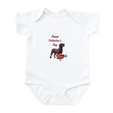 Happy Valentine's Day Labrador Infant Bodysuit