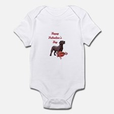 Happy Valentine's Day Labrador Infant Bodysuit