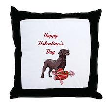 Happy Valentine's Day Labrador Throw Pillow