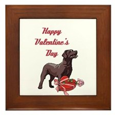 Happy Valentine's Day Labrador Framed Tile