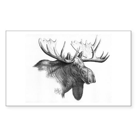 Moose Rectangle Sticker