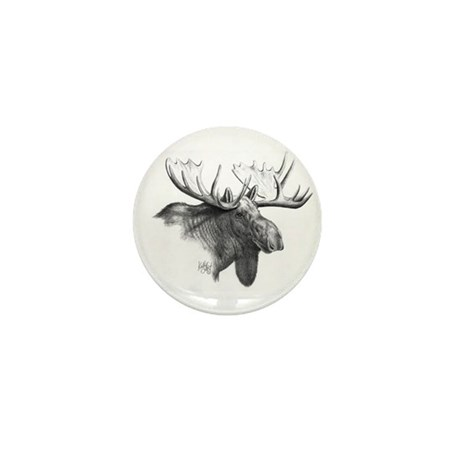 Moose Mini Button (10 pack)