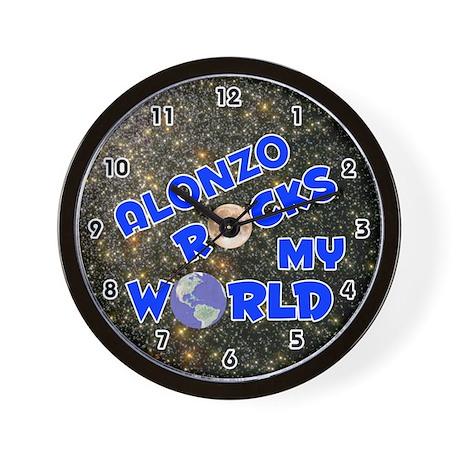 Alonzo Rocks My World (Blue) Wall Clock