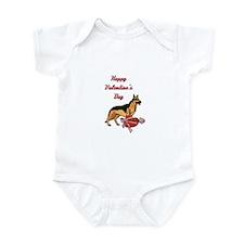Happy Valentines Day German Shepard Infant Bodysui