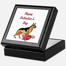 Happy Valentines Day German Shepard Keepsake Box
