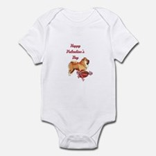 Happy Valentine's Day Chow Chow Infant Bodysuit