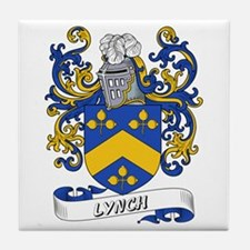 Lynch Coat of Arms Tile Coaster