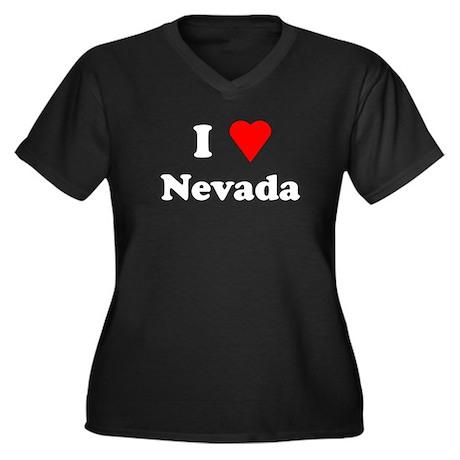 I Love Nevada Women's Plus Size V-Neck Dark T-Shir