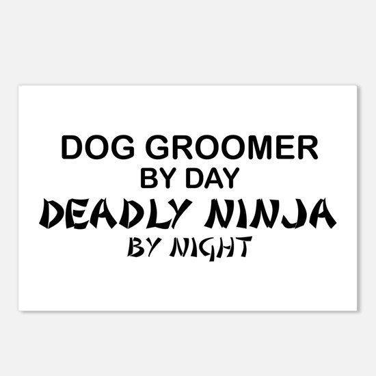 Dog Groomer Deadly Ninja Postcards (Package of 8)
