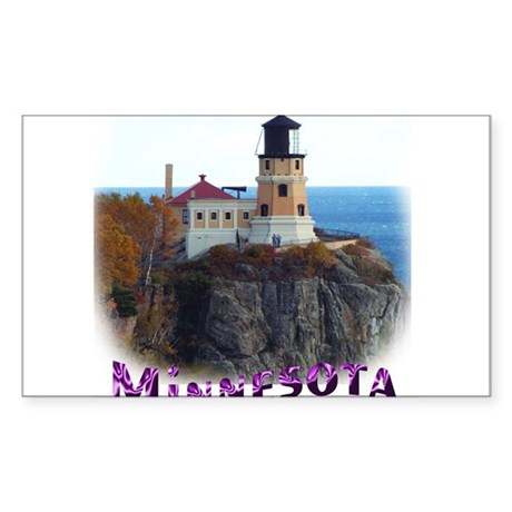 Split Rock Lighthouse Rectangle Sticker