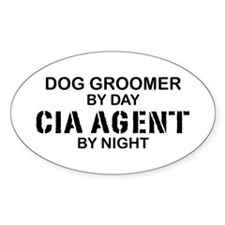 Dog Groomer CIA Agent Oval Decal
