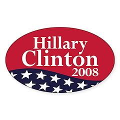 Hillary Clinton 2008 (oval bumper sticker)