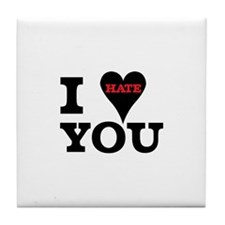 I Hate You Valentine Tile Coaster