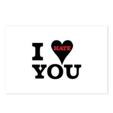 I Hate You Valentine Postcards (Package of 8)
