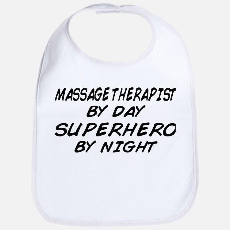 Massage Therapist Superhero Bib