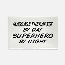 Massage Therapist Superhero Rectangle Magnet