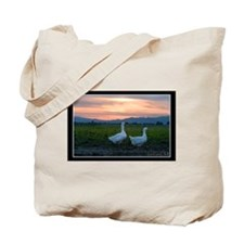 Tote Bag-Sturdy Canvas Geese Sunset