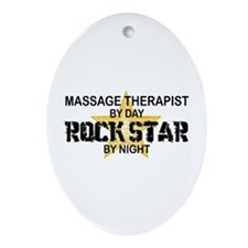 Massage Therapist Rock Star Oval Ornament