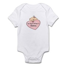 Heart Belongs to Babcia Infant Bodysuit