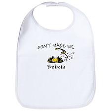 Call Babcia Black Phone Bib