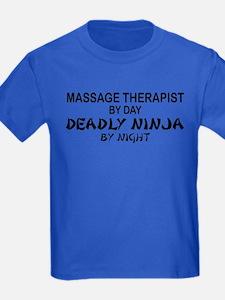 Massage Therapist Deadly Ninja T