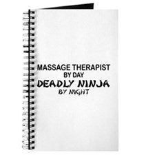 Massage Therapist Deadly Ninja Journal