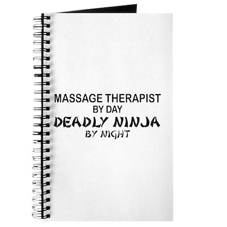 Massage Therapist Deadly Ninja Journal