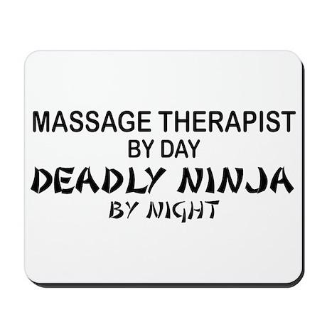 Massage Therapist Deadly Ninja Mousepad