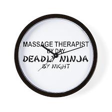 Massage Therapist Deadly Ninja Wall Clock