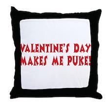 Valentine's Day Puke Throw Pillow