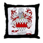 Mather Coat of Arms Throw Pillow