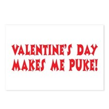 Valentine's Day Puke Postcards (Package of 8)