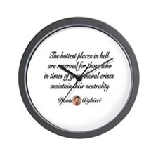 Neutral Quote Wall Clock