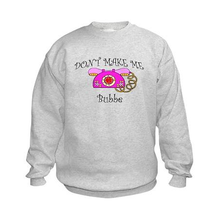 Call Bubbe Pink Phone Kids Sweatshirt