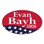 Evan Bayh 2008 (oval bumper sticker)