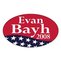 Evan Bayh 2008 (oval bumper sticker)